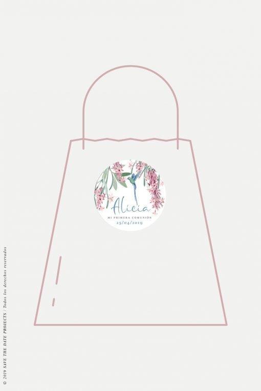 pegatinas personalizadas para detalles de primera comunion nina colibri-1