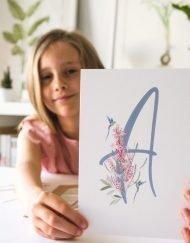 regalo de comunion letra pesonalizable nina colibri 1