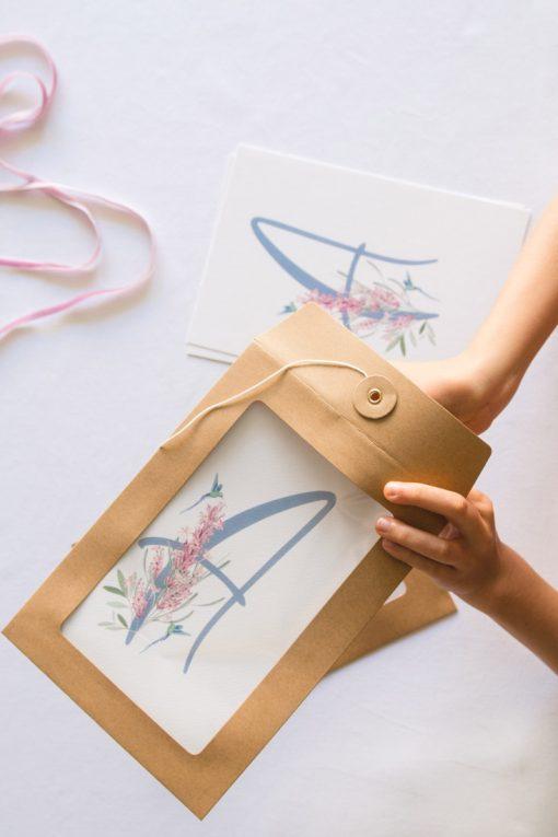regalo de comunion letra pesonalizable nina colibri 2