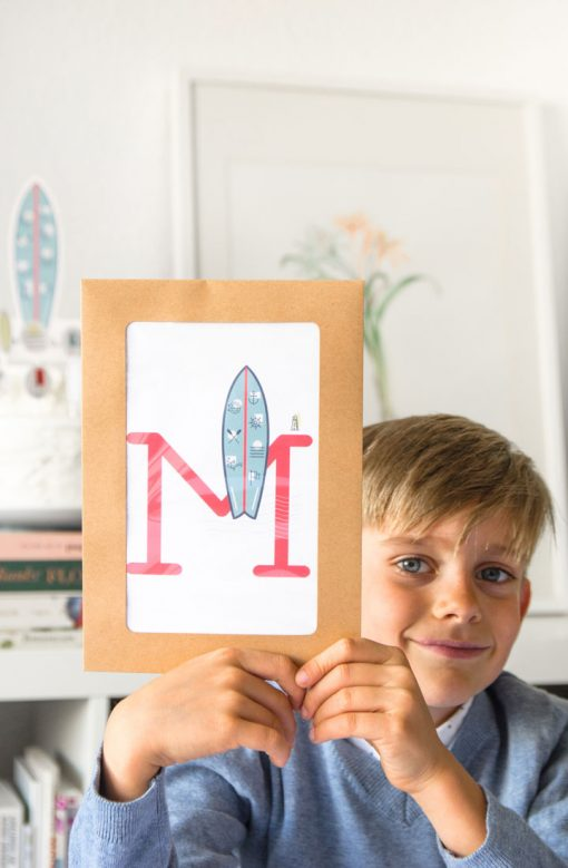 regalo de comunion letra pesonalizable nino surf 2