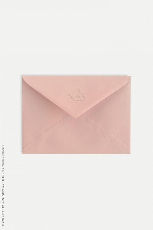 sobre rosado comunion con relive personalizado comunion nina flamencos