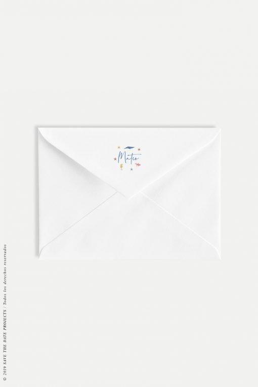 sobres blancos personalizados comunion nino marinero