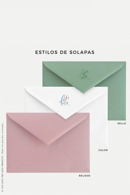 sobres de color personalizado comunion nina colibri