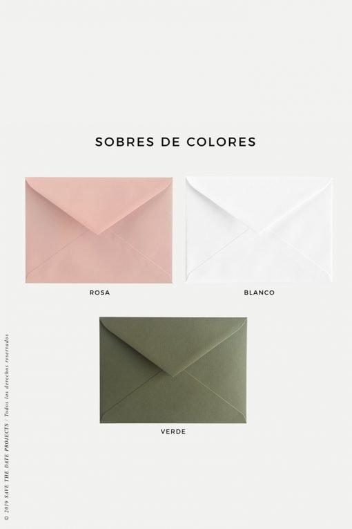 sobres de colores para primera comunion flamencos