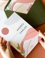 Invitaciones de boda verano california minimalista