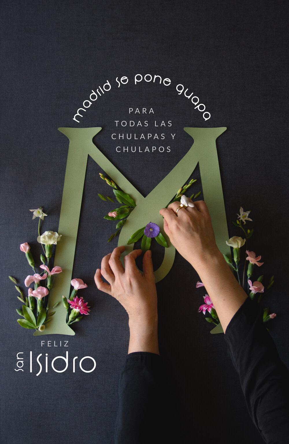 Poster San Isidro 2019 con flores Save the date projects