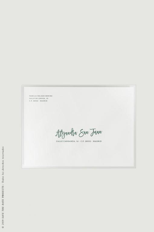 sobres transparentes envio invitaciones de boda frontal