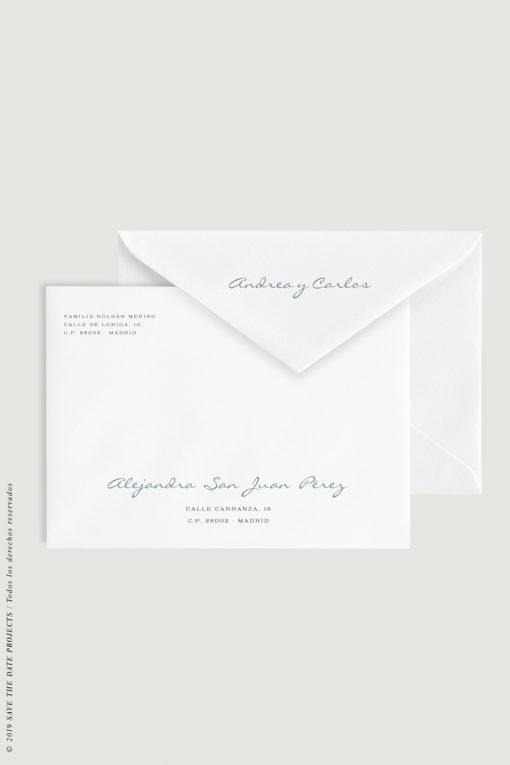 caligrafia para sobres de boda