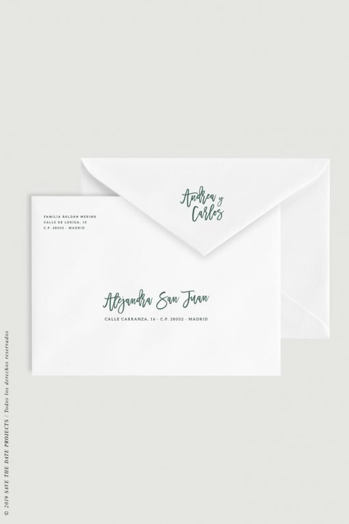 añadir direcciones caligrafia sobres boda