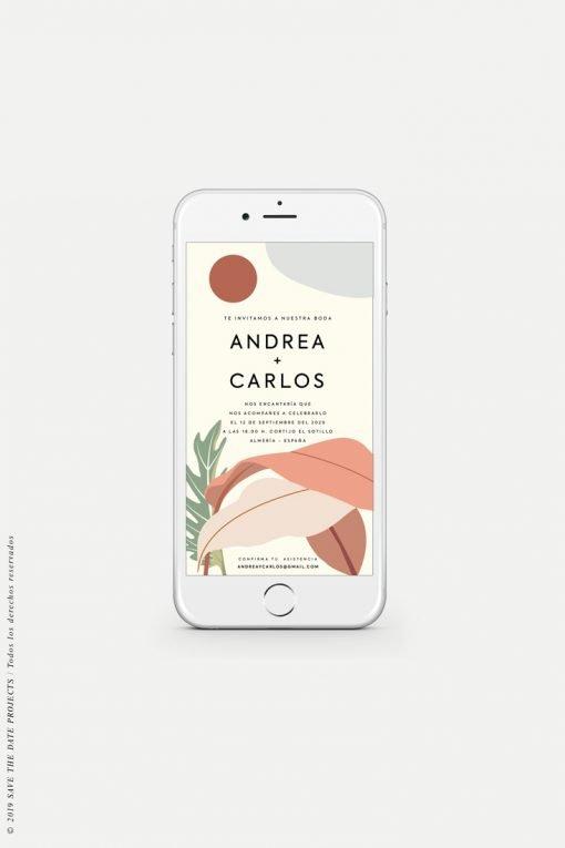 Invitaciones boda California whatsapp digitales