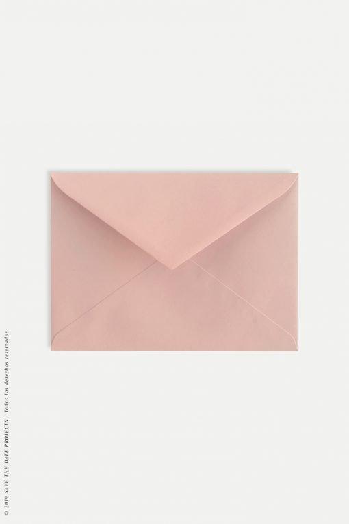 Sobres para bodas color rosa