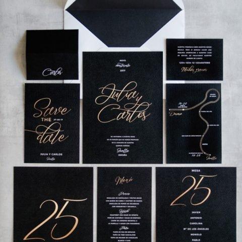 Papeleria de boda caligrafia