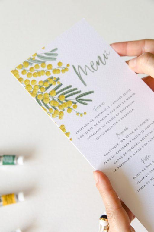 detalle menu de boda mimosas