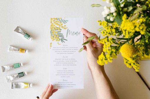 horizontal minutas flores mimosas