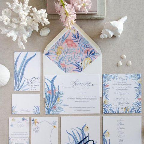 papeleria de boda marinera