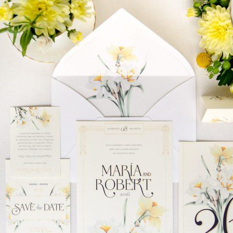 papeleria de invitaciones de boda romanticas