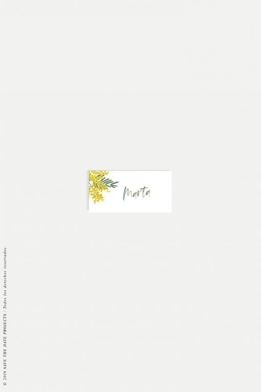 placecards nombre invitados boda mimosas