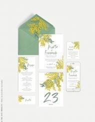 tarjeta cuenta banco boda mimosas
