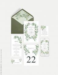 numero de mesas para boda eucalipto