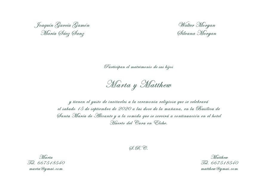 textos de invitaciones de boda clasicas