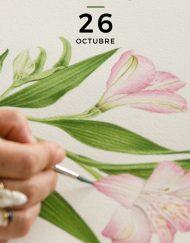 Curso taller acuarela botánica Kata Zapata 26 octubre 2019