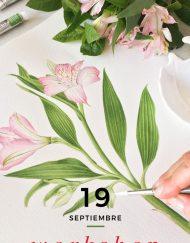 acuarela botanica septiembre 2020