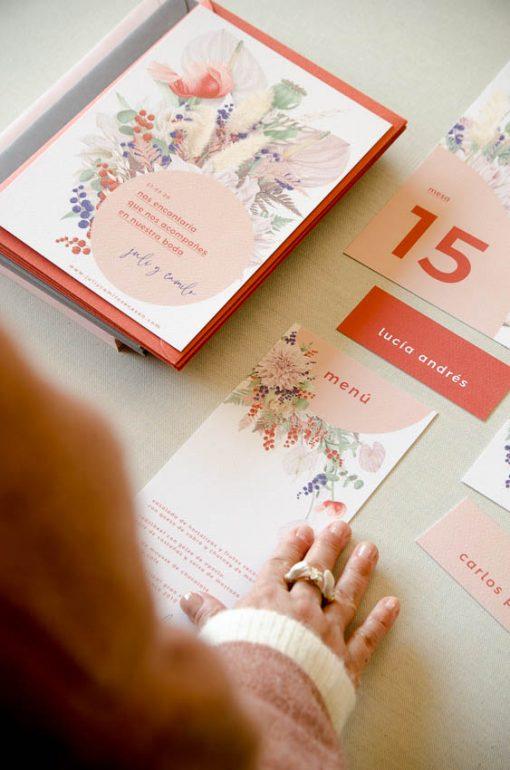 Minutas y papeleria boda primavera