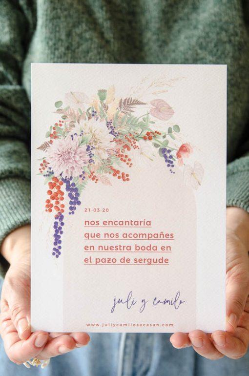 Mostrando invitacion primavera
