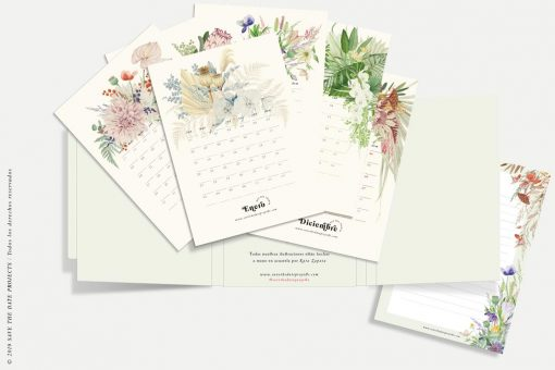 calendario 2020 meses con flores savethedateprojects