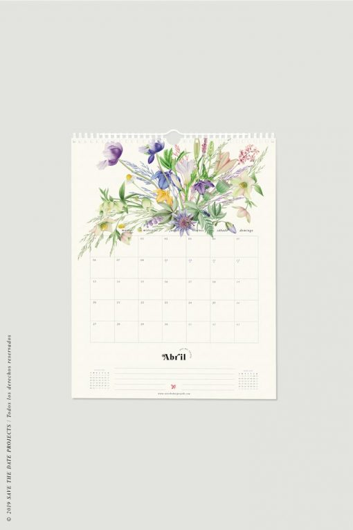 mes abril calendario pared 2020
