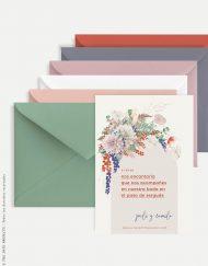 sobres para boda invitacion primavera