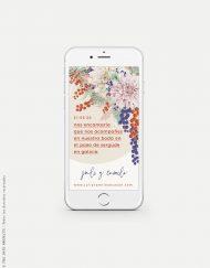invitacion de boda primavera digital para movil