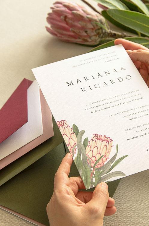 Invitacion de boda ilustrada