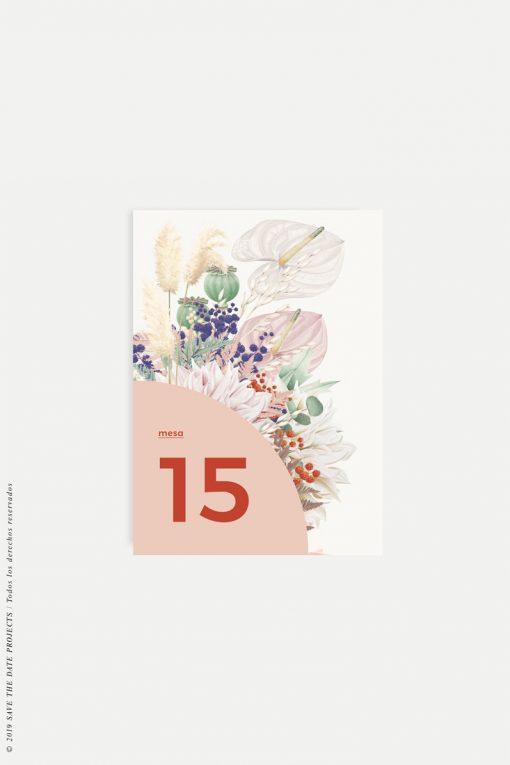 numeros de mesa primavera
