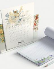 regalo original calendario 2020 y bloc de notas