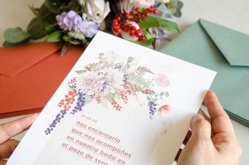 Detalle invitacion boda primavera