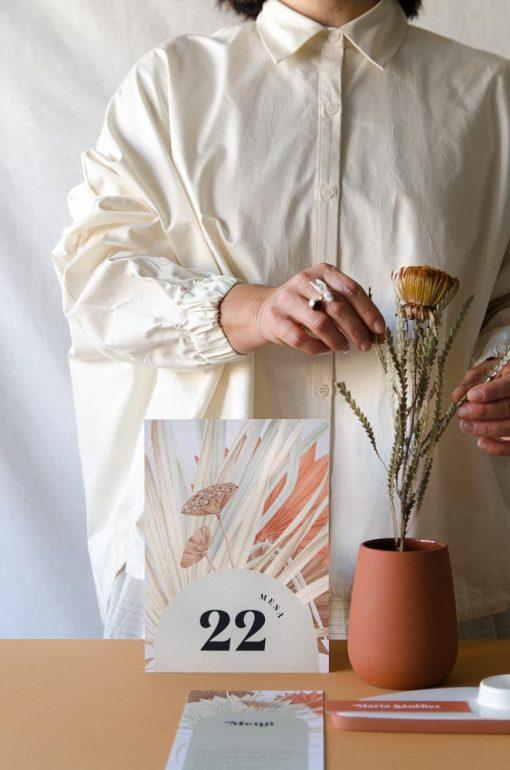 mesero boda coleccion flores secas