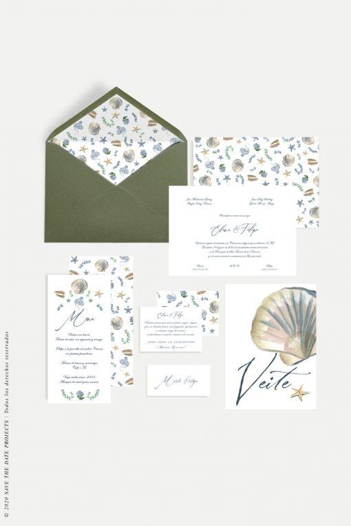 elementos papeleria boda galega con meseros