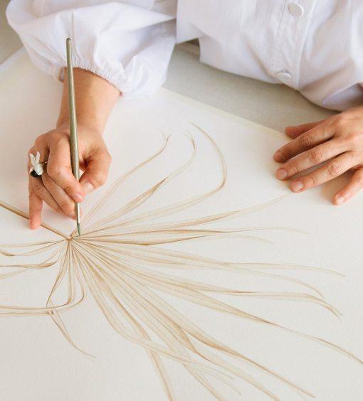 Dibujos acuarela fáciles Arecaceae