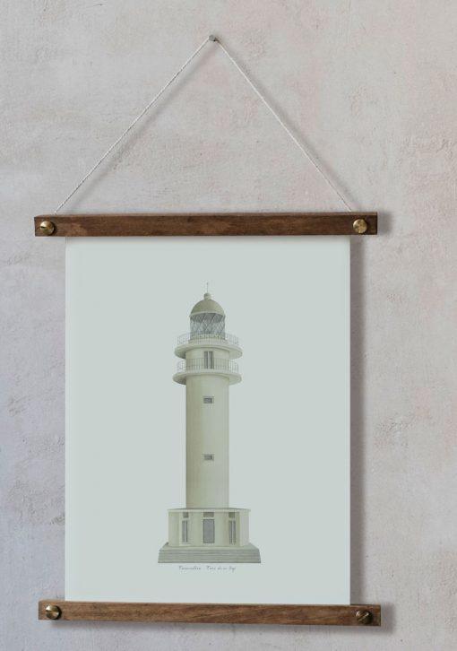 Dibujos en acuarela para cuadros Faro Formentera