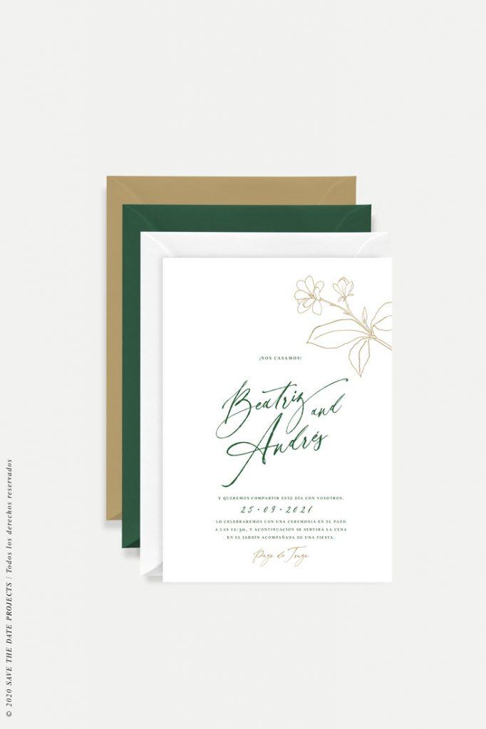 invitación magnolia kraft