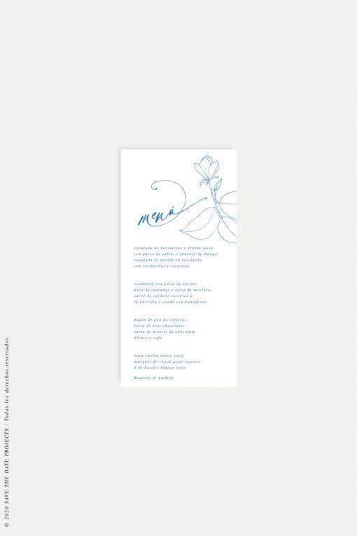 minuta de boda flor linea magnolia
