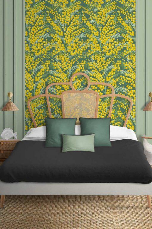 Papel de pared Mimosas dormitorio