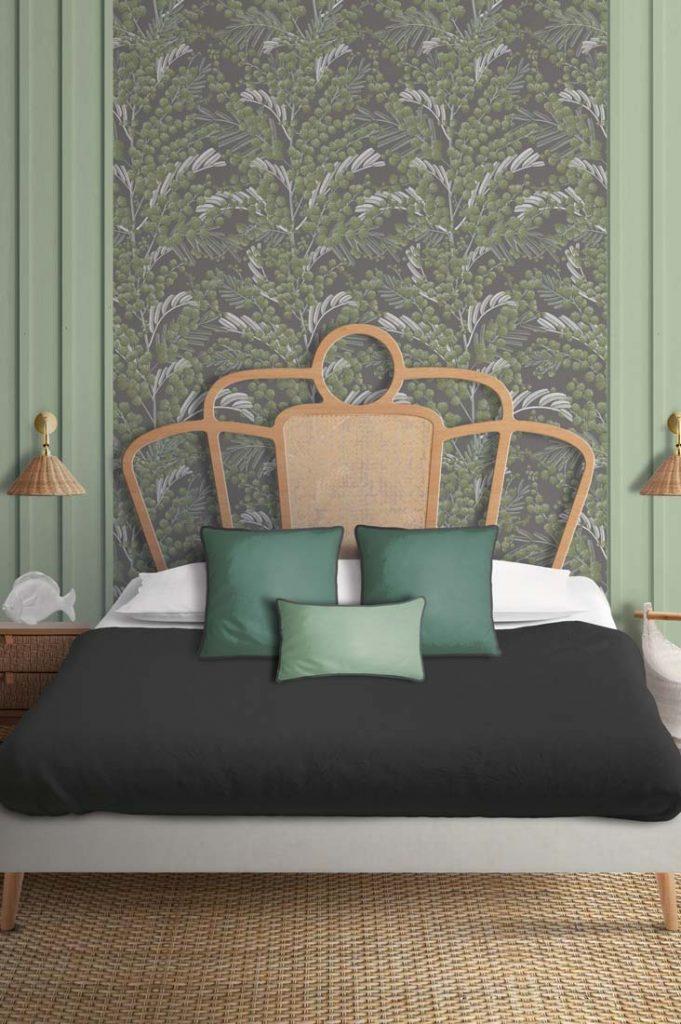 papel de pared elegante verde