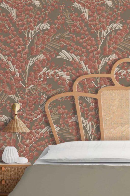 papel pintado dormitorio otoño