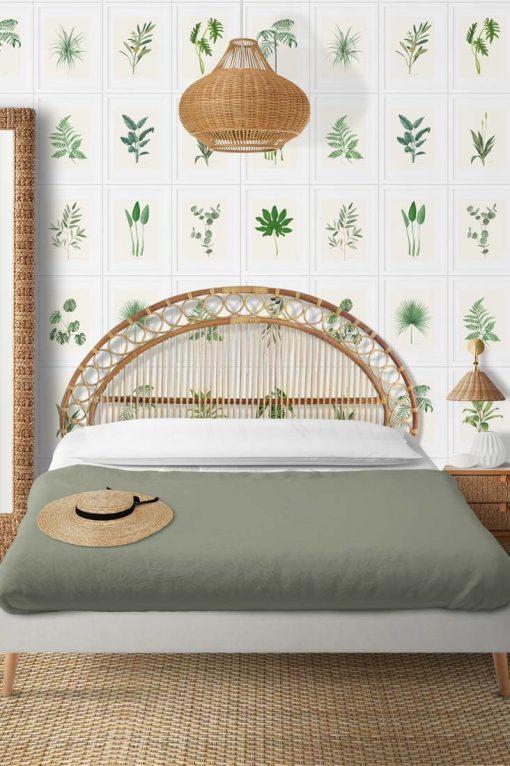 papel pintado plantas dormitorio