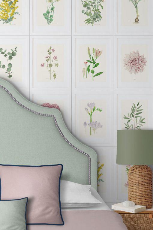 detalle flores papel pintado