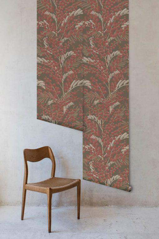 2 rollos de papel de pared vegetación otoño