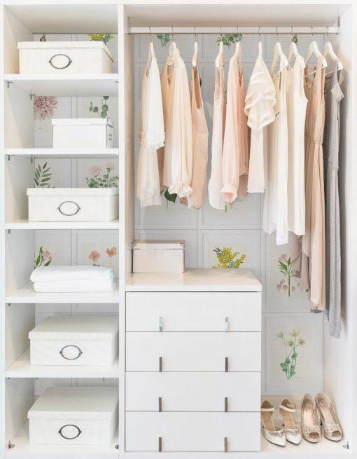 armario forro papel pintado