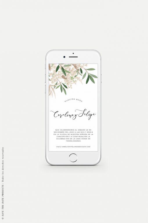 invitacion de boda móviles ramillete